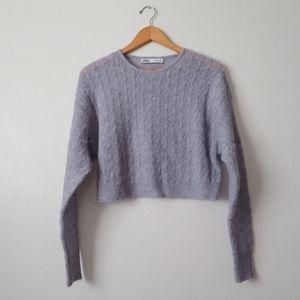 Zara cropped box sweater